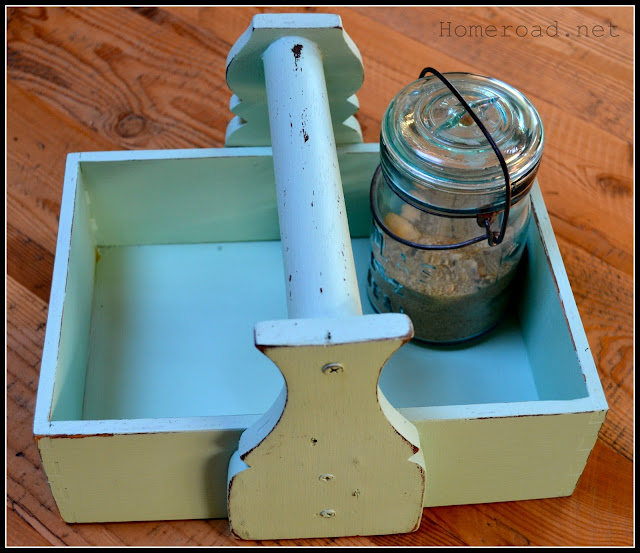 Funky Sea Glass Crate www.homeroad.net