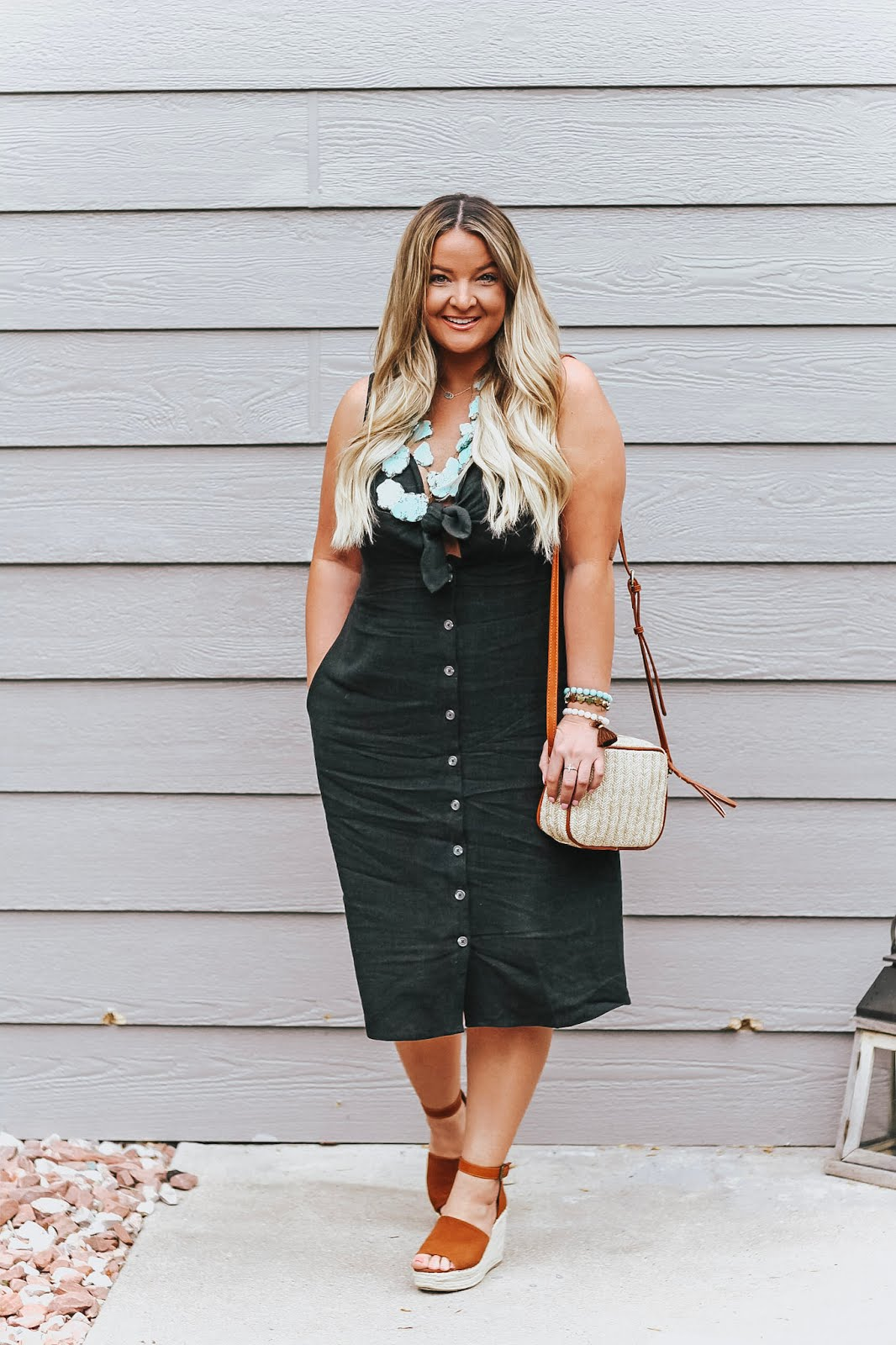 The perfect Casual Little Black Dress styled by popular Colorado fashion blogger, Delayna Denaye
