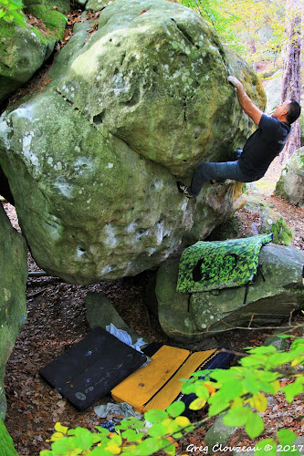 Laurent Bardiau dans Par Foi, 6B, Mont Ussy, Fontainebleau