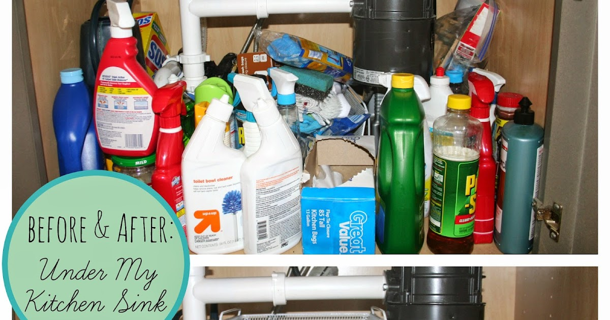 Organizing Plus 123 Before Amp After Under My Kitchen Sink