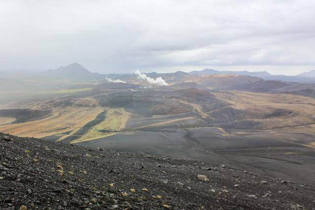 Vistas desde lo alto del volcán Hverfjall