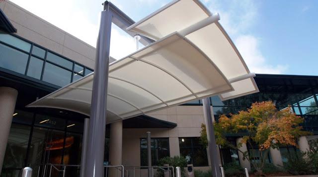 membrane kanopi lengkung minimalized
