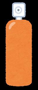 スプレーのイラスト(オレンジ)