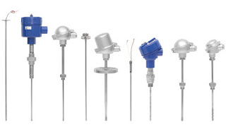 Wika Industrial Thermocouples, Various Termination Options