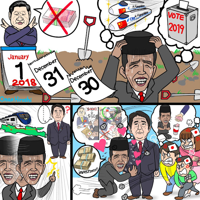 Komikus Jepang Onan Hisoshi Hina Jokowi