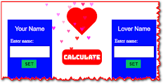 Online Love Calculator, Click The Image