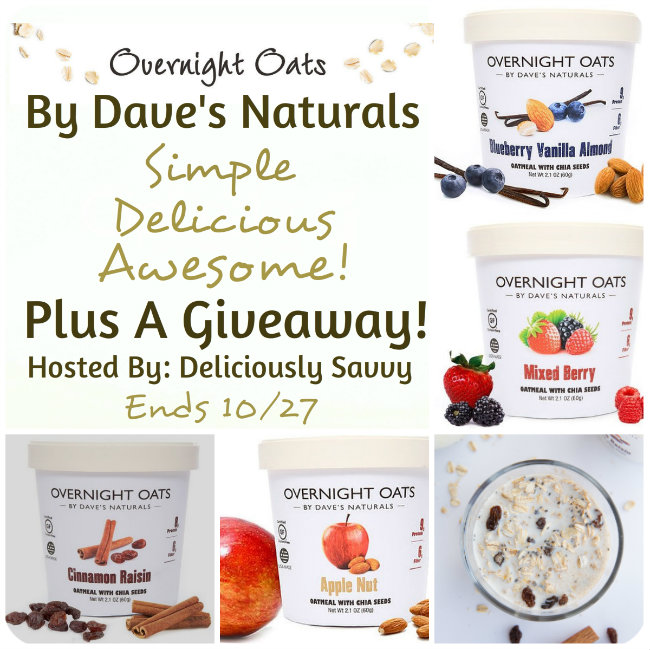 Overnight Oats By Dave Naturals