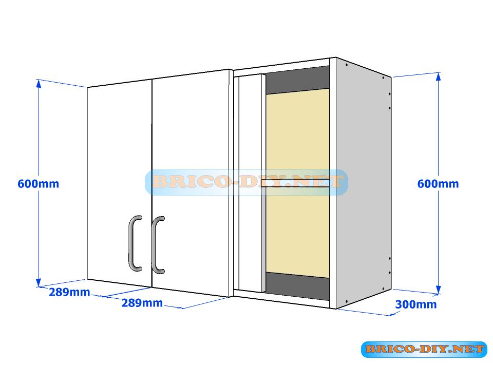 Muebles de cocina plano de alacena de melamina esquinera - Medidas de los muebles de cocina ...