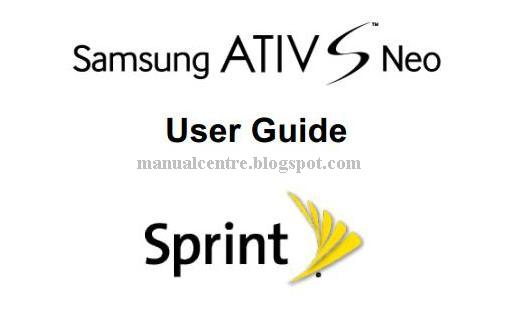 Samsung ATIV S Neo Manual Cover