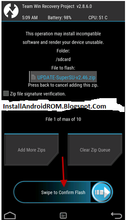 Install SuperSU Root Android TWRP Recovery