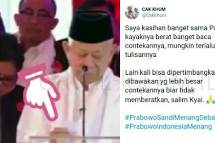 KH Ma'ruf Amin Kesulitan Lihat Contekan, Warganet Prihatin: Berat Banget Kayanya...
