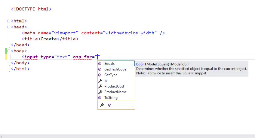 Tag Helpers in Core MVC