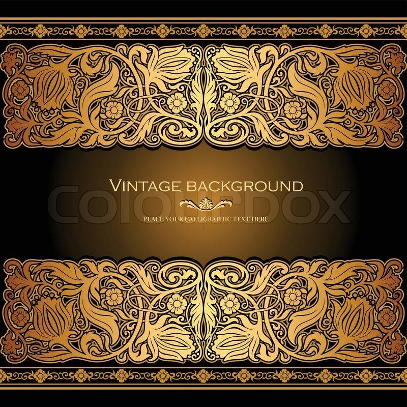 background undangan motif emas klasik ~ SAKTI KREASI