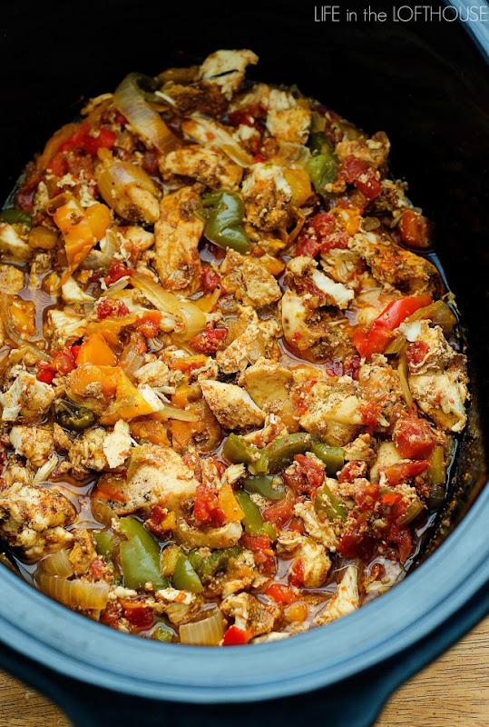#Recipe : Crock Pot Chicken Fajitas