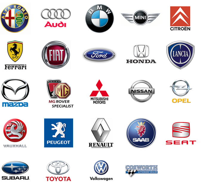 All Cars Logo With Name: Car Badges And Makes