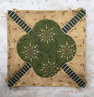 Dear Jane Quilt - Block G5 Poof