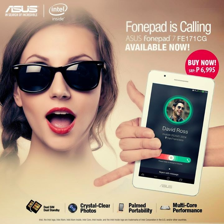 ASUS Fonepad 7 FE171CG Specs, Price and Availability