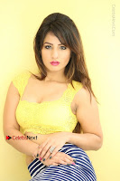 Cute Telugu Actress Shunaya Solanki High Definition Spicy Pos in Yellow Top and Skirt  0273.JPG