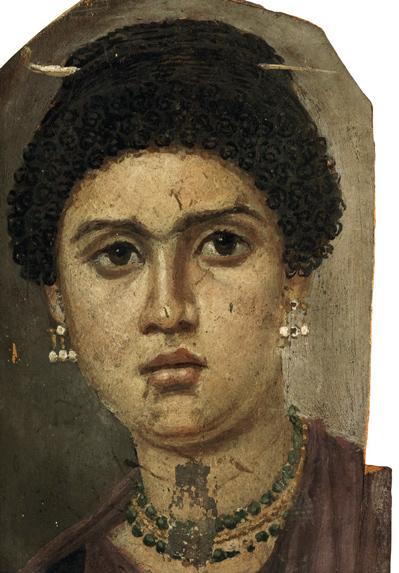 Portrait of a Woman Mummy in Faiyum