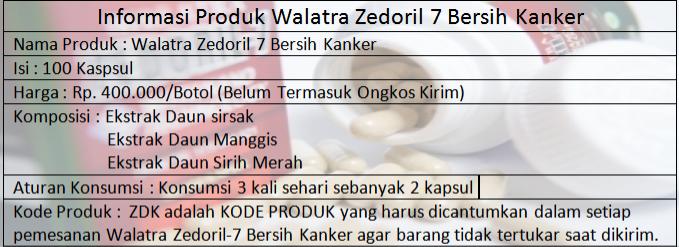 Manfaat Walatra Zedoril 7 Bersih Kanker
