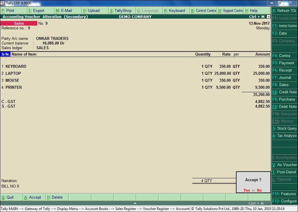 Sales Invoice Auto Generate in PDF - Free TDL - Tally Tdl Expert