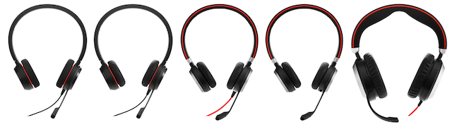 Five headsets in the series