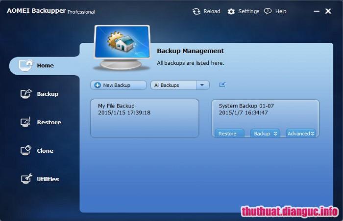 Download AOMEI Backupper Professional 4.5.6 Full Cr@ck