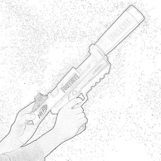 Coloring Pages Nerf Fortnite Blasters