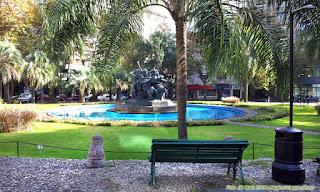 Plaza Fabini | Fonte e jardins | Montevidéu