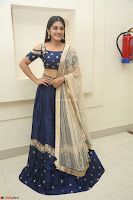 Niveda Thomas in Lovely Blue Cold Shoulder Ghagra Choli Transparent Chunni ~  Exclusive Celebrities Galleries 046.JPG