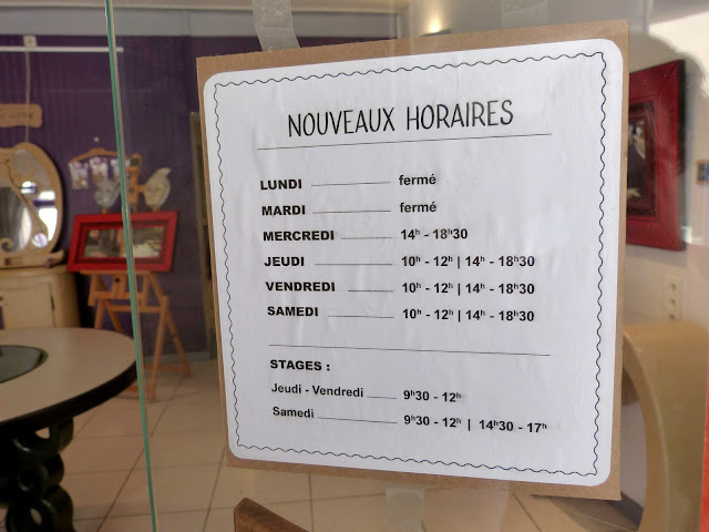 Nouveaux horaires ouverture boutique Cartons Dudulle - Albi - Meubles en carton et décoration en carton