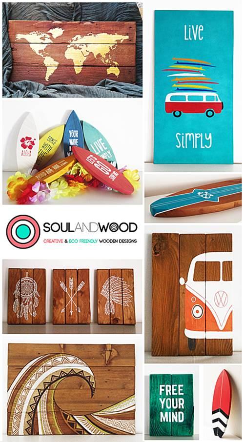 Cuadros con madera reciclada 1