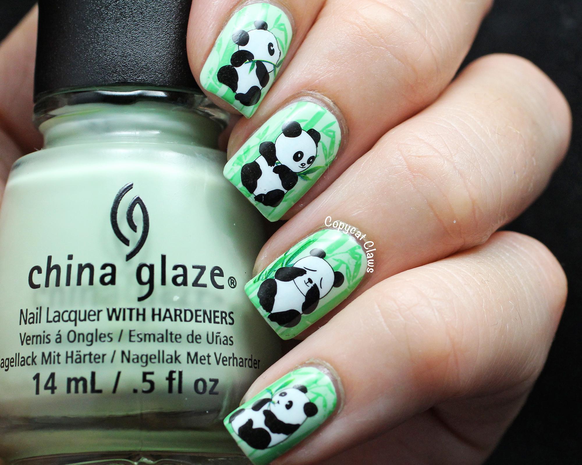 Dorable Uñas Panda Friso - Ideas Para Pintar Uñas - knxc.info