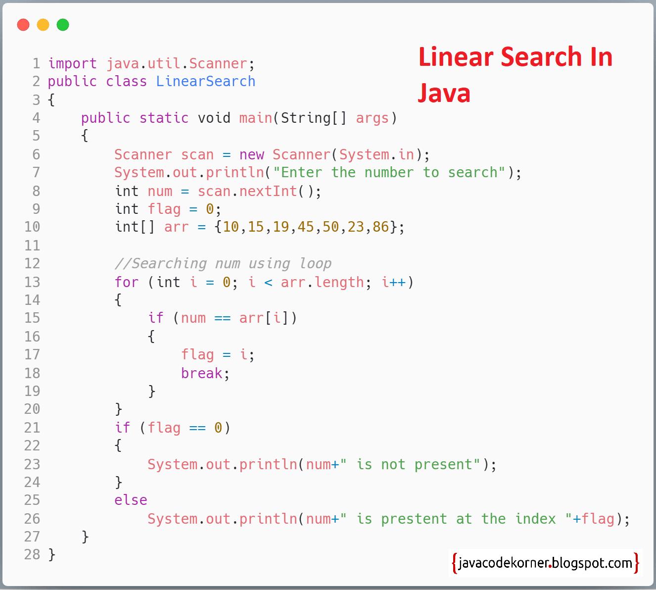 Java Code Korner
