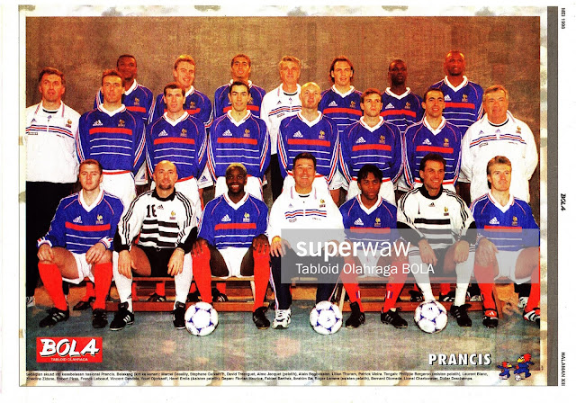 FRANCE WORLD CUP 1998 TEAM SQUAD
