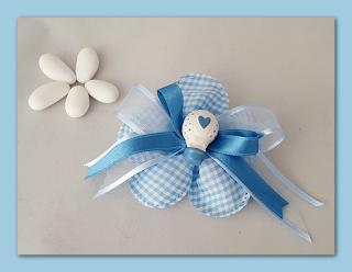 bomboniere gesso nascita fiore mongolfiera azzurra