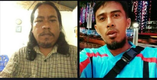 Syafruddin Yusuf penerima mandat IWO Asahan-Batubara (kiri) dan Indra Sikumbang Ketua PWI Asahan (kanan)