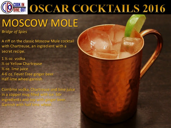 Oscar Cocktails 2016 Bridge of Spies Moscow Mole