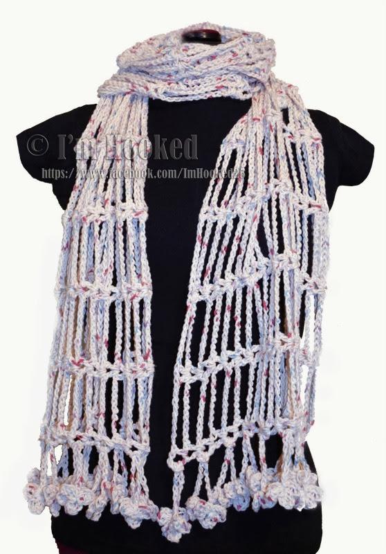 Crochet Treasures Drop Chain Scarf