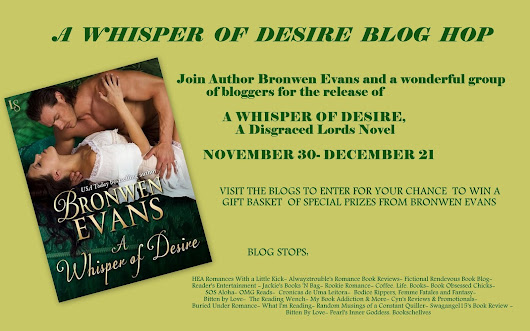 Blog Tour: A Whisper of Desire by Bronwen Evans; Review + Giveaway