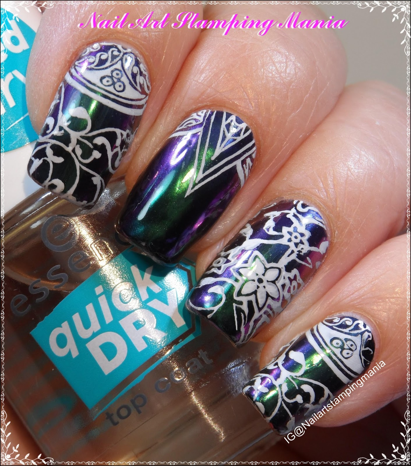 Nail Art Stamping Mania: Multichrome Manicure With Cici