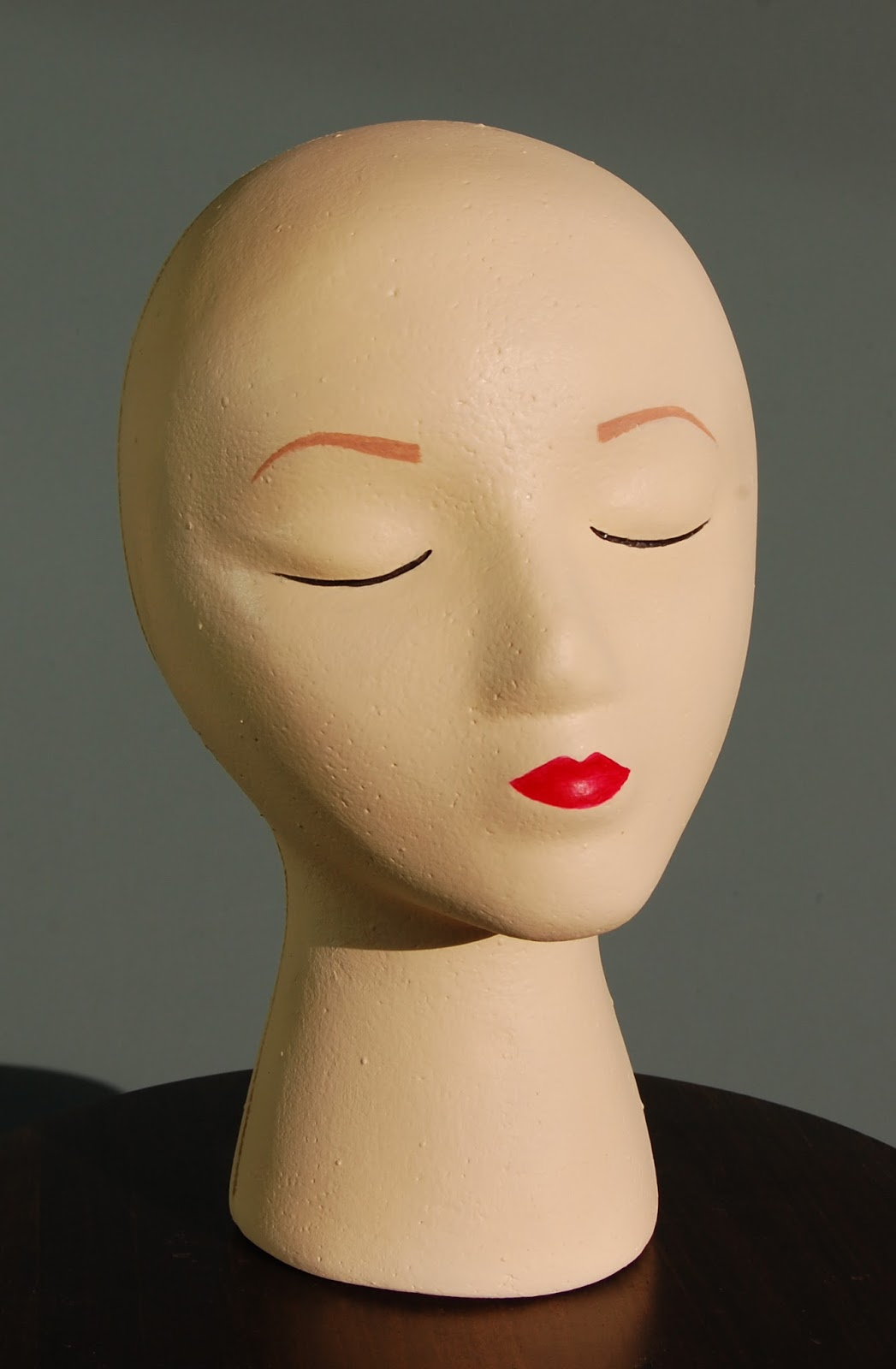 Fancy Free Crafts Painting A Foam Mannequin Head