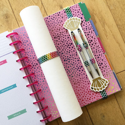 Make your own pen holder for planner notebook or journal from faux leather paper. Designed by Janet Packer (CraftingQuine.blogspot.co.uk) for the Silhouette UK Blog