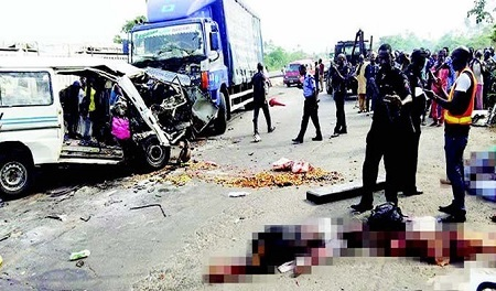 Black Thursday in Delta as Truck Crushes 4 School Children, Woman to Death... Read Sad Details