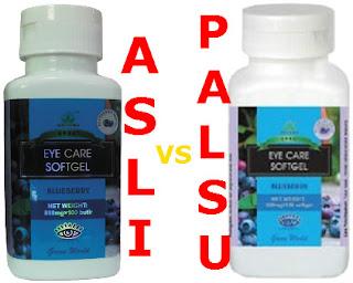 cara membedakan eye care softgel asli dan palsu
