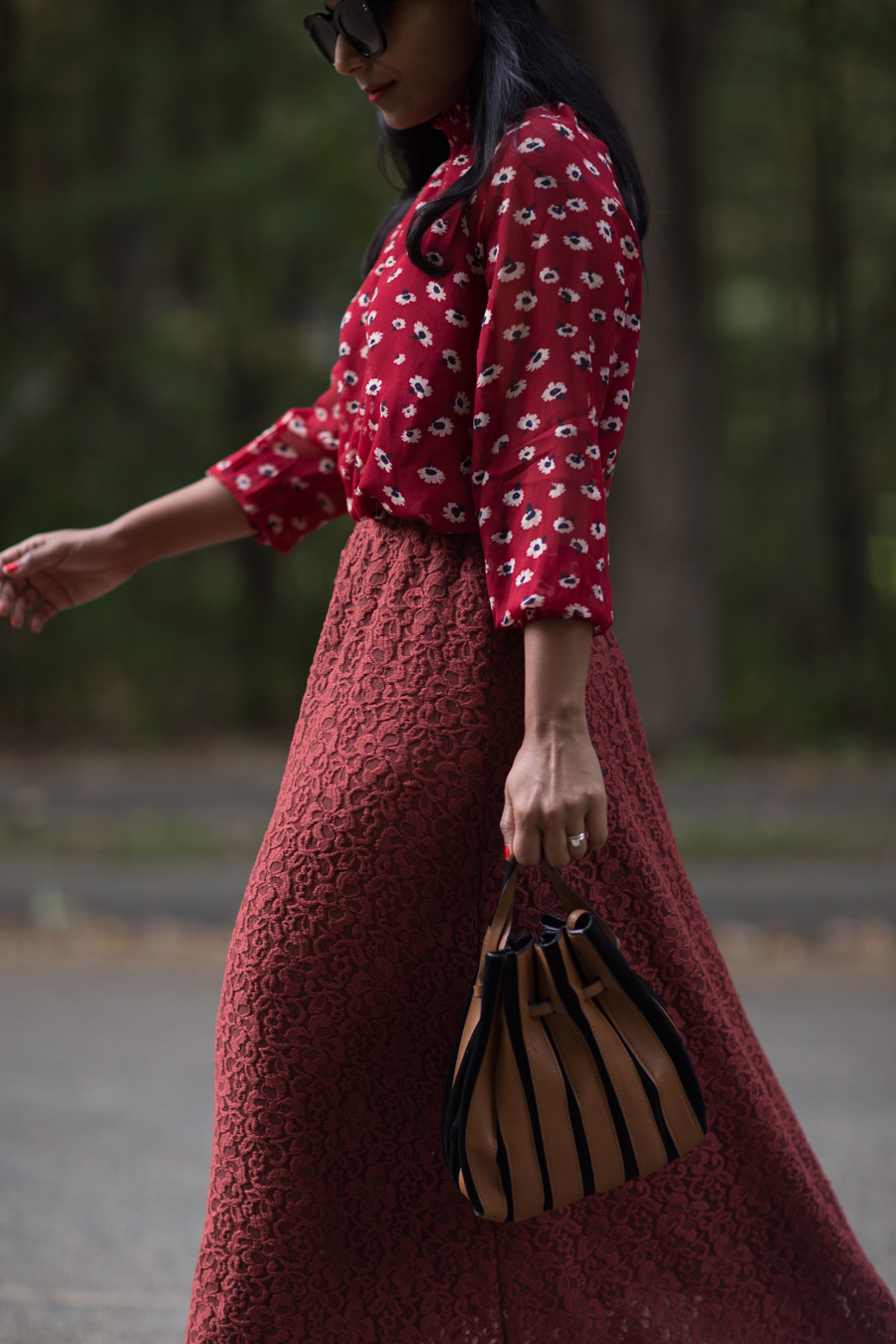 fall fashion, floral, fall style, office style, work style, fall outfit, petite stylist, petite blogger, fashion over 40, monochromatic, street style, fall layers, burgundy outfit, zara