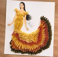 Arte con collage de comida - pasta