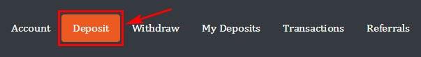 Создание депозита в Cryptoverdrive