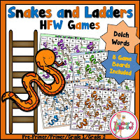 Snakes and Ladders using Dolch HFW