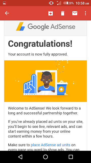 Imdishu AdSense approve email